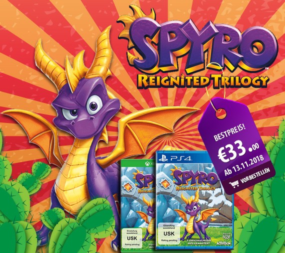 Spyro Reignited Trilogy für PlayStation 4 & Xbox One
